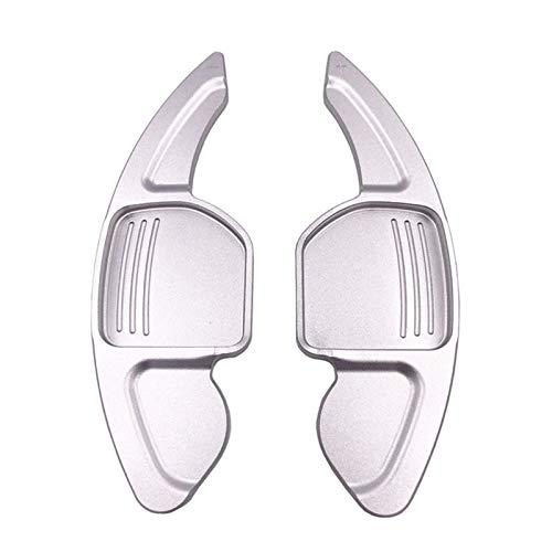 Padillas de cambio Volante de aluminio Rueda de paleta de palanca de remolino de cambio extensión para asiento León Cupra 5F Ibiza 6F Arona Ateca Leon St (Color : Silver)