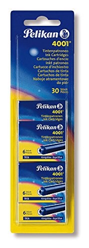 Pelikan - Set da 5 ricariche per penna stilografica, colore: blu