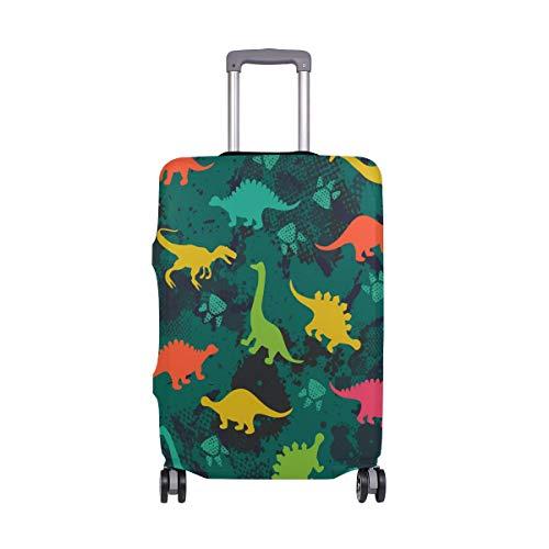 Orediy - Funda elástica para equipaje de viaje, diseño de dinosaurios de colores, sin maleta, talla S, M, L, XL, multicolor (Multicolor) - suitcasecover