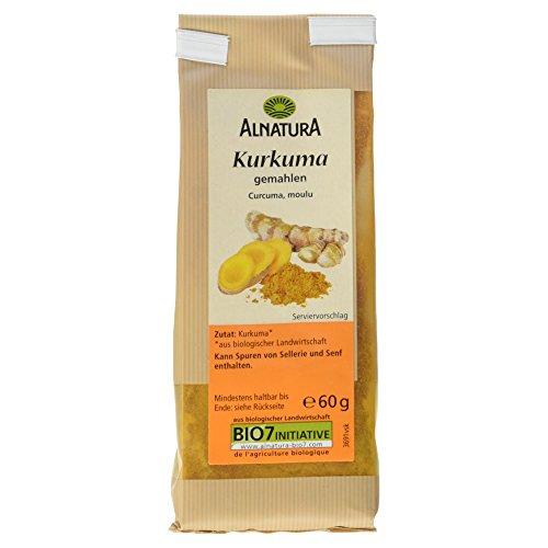 Alnatura Bio Kurkuma, gemahlen, 7er Pack (7 x 60 g)