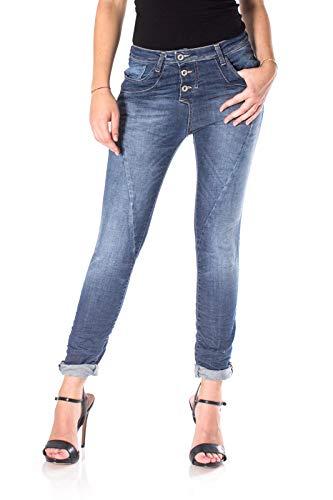 PLEASE Baggy Jeans für Damen Mittel Blauer Jeansstoff)