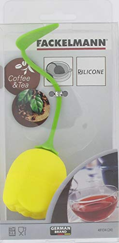 Fackelmann Lotus Teesieb gelb Silikon grün