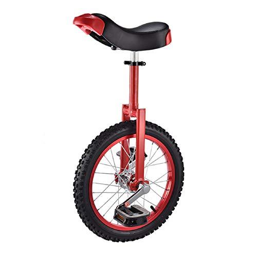 JFF Rueda Antideslizante De 16 Pulgadas Monociclo Bicicleta Neumático De Montaña Ciclismo Autoequilibrio Ejercicio Equilibrio Ciclismo Bicicletas Ciclismo Deportes Al Aire Libre Ejercicio Físico,Rojo