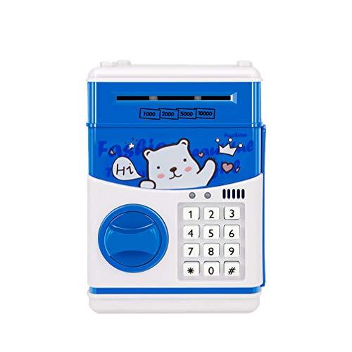 NUOBESTY Elektronische Passwort Box Cartoon Sparkasse Safe Münztresor Spielzeug für Festival Geschenk Familie Studenten Kinder ohne Batterie (Bär)