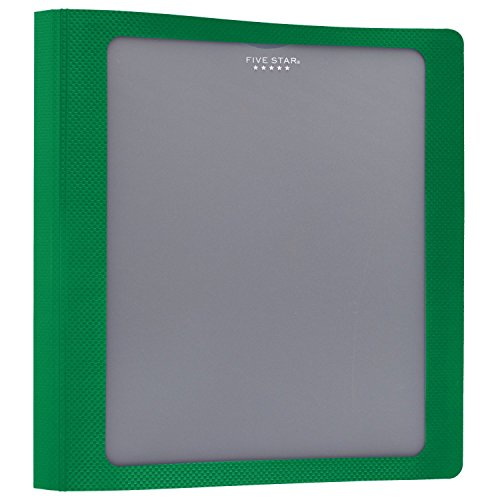 Five Star 1-1/2 Inch 3 Ring Binder, View Binder, Customizable Cover, Green (73367)