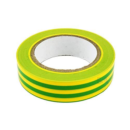 5 Isolierband gelb grün 15 mm x 10 mm x 0,15 mm Irox PVC selbstverlöschend IEC RoHS Elektriker Klebstoff 15 x 10 mm/m