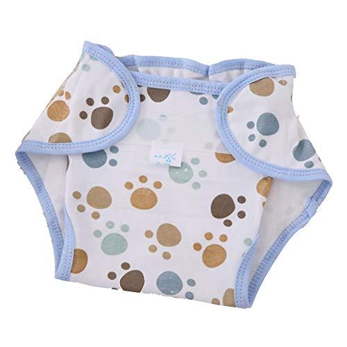 SENZHILINLIGHT Wiederverwendbare Vollbaumwolle Born Baby Naturwindeln Stoff Komfortabel 6 Lagen Waschbar Babypflegebedarf Weiß