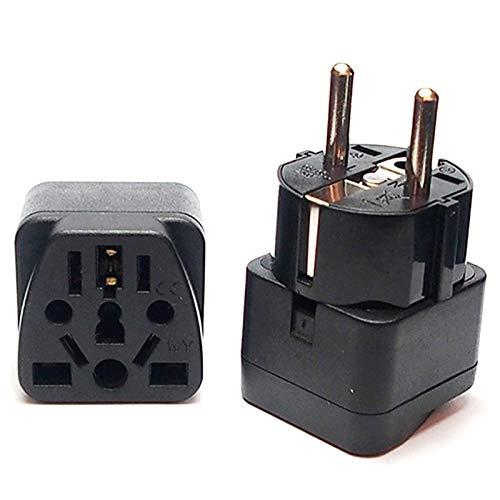 Stecker Adaptert Universal-Italien Schweiz Indien UK US AU EU Deutsch Russland Netz Socke Reise-Ladegerät Converter (Color : White, Standard : EU Plug)