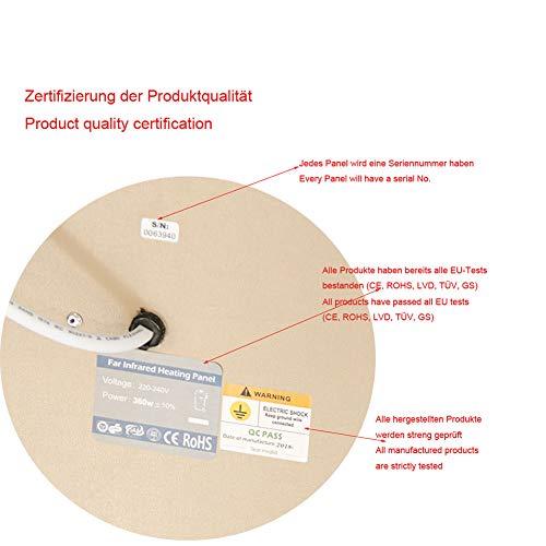 Infrarot-Heizung-Panel Raumheizung Elektrische Heizungen 180watt Weiß Rahmen Lavendel Bild 5*