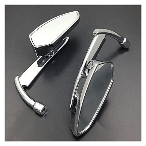 para Suzuki Intruder Volusia Boulevard All Cruiser Chrome Spear Blade Universal Fit 8mm 10mm Hilo Motocicleta Retrovisores Espejos (Color : Silver)
