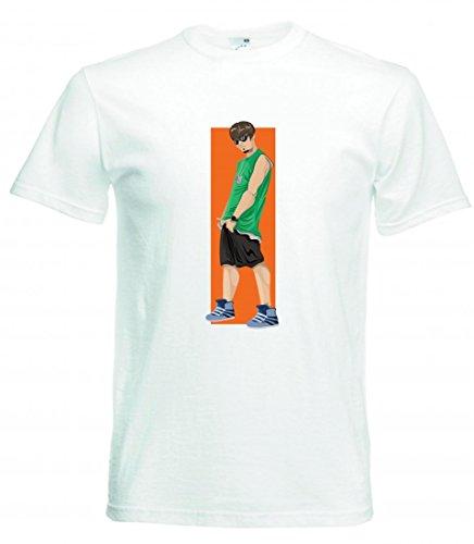 Camiseta de manga corta para jóvenes, jóvenes, jóvenes, jóvenes, jóvenes, felices, personales, adolescentes, hombres, adolescentes, adolescentes, para hombre, mujer, niños, 104 – 5 XL Blanco Para Hombre Talla : X-Large