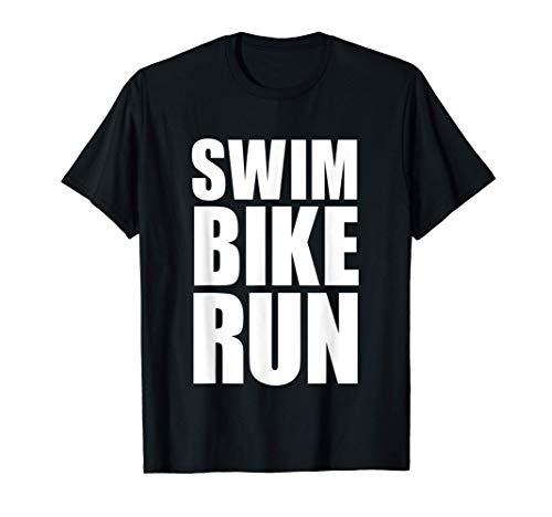 SWIM BIKE RUN TRIATHLÈTE TRIATHLON SPORT CADEAUX FEMME HOMME T-Shirt