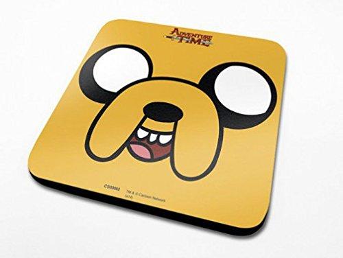 1art1 Adventure Time - Abenteuerzeit, Jake Untersetzer 10 x 10 cm