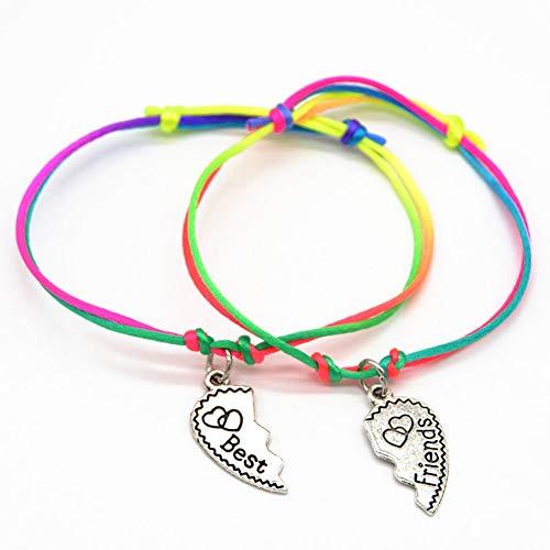 Uticon Bracelets, Fashion Women Girl Letter Carved Heart BFF Best Friend...