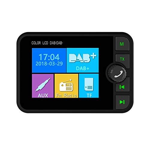 2,4 inch TFT-scherm Bluetooth Auto MP3 DAB DAB + Radio FM-ontvanger Adapter Schuif TF-kaart MP3-speler Bellen Antwoord