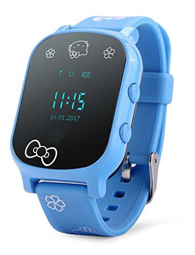 VIDIMENSIO GPS Telefon Uhr ohne Abhörfunktion, für Kinder, GPS Ortung per App SOS mitTelefonfunktion