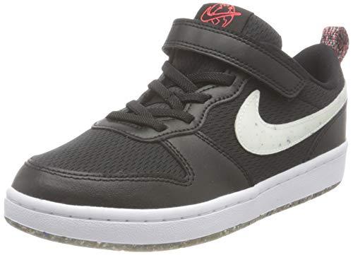 Nike Court Borough 2, Zapatillas, Black/White-Bright Crimson, 31.5 EU
