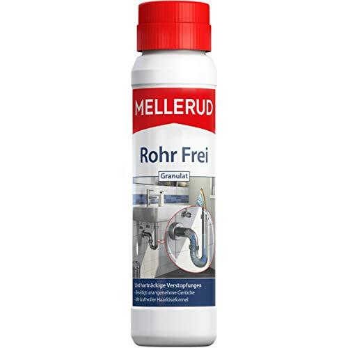 Mellerud Rohr Frei Granulat – Leistungsstarker Abflussreiniger gegen Verstopfungen und Gerüche mit Haarlöseformel – 1 x 0,6 kg