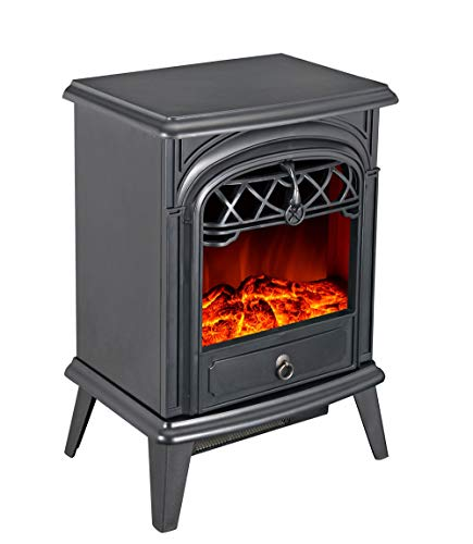 GMHome Free Standing Electric Fireplace Cute Heater Log Fuel Effect Realistic...