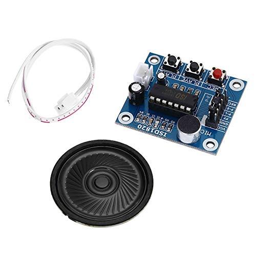 LUZIWEN ISD1820 Audio Sound Recording-Modul mit Mikrofon und Lautsprecher 0.5W 8R