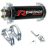 RENEGADE RX1200 power cap condensatore car audio 1,2 farad per impianti fino a 1200 watt rms 1 2 3 4 5 10 capacitor auto spl nero, 1 pezzo