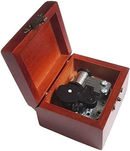 TZSJYYH Music Box Mechanism 18 At the price of surprise Wind-Up Lace Wooden Note Special sale item Antique