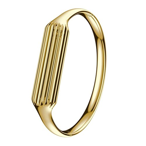 Aresh Compatible with Fitbit Flex 2 Bangle, Accessory Bracelet Band Compatible with Fitbit Flex 2, for Wrist Size: 6.3'-6.5' (Gold)
