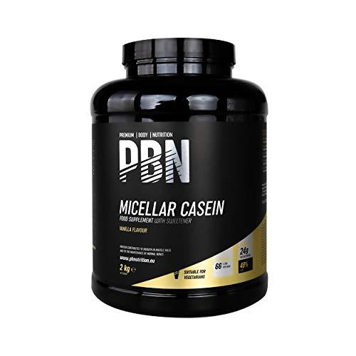 PBN - Premium Body Nutrition Integratore di Caseina Micellare, 2 kg (Pacco da 1), Gusto Vaniglia