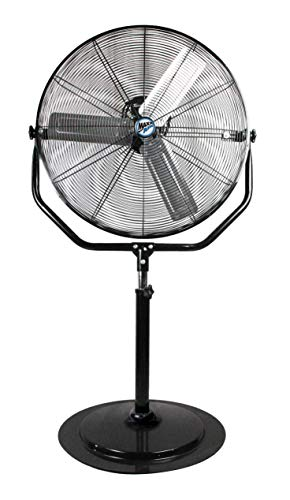 "Industrial Pedestal Fan | Heavy Duty 30"" Stand Fan, 4800 CFM"