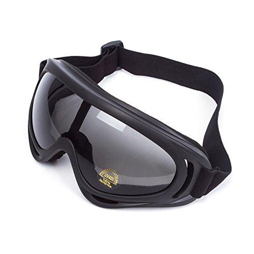 WILDKEN Gafas de Seguridad Anti-UV a Prueba de Viento Antipolvo Anti-Sable Anti-Niebla para Actividades al Aire Libre Ciclismo Moto Cross Mountain Bike ATV Ski (Negro)