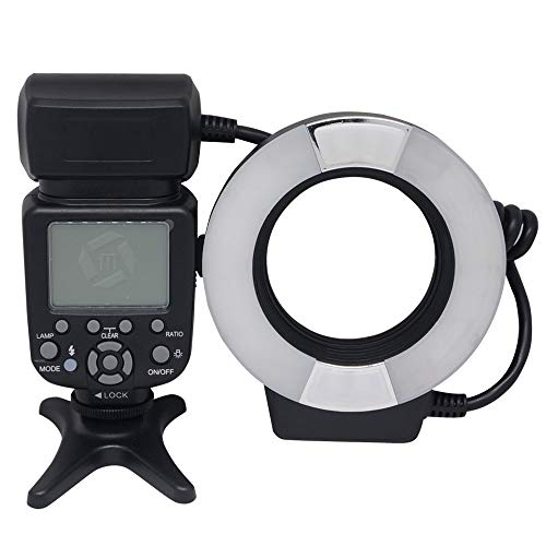 Mcoplus 14EXT-C 5500K Macro TTL Ring Flash Lite with LED AF Assist Lamp for Canon E-TTL Cameras/760D 750D 550D 650D 450D 700D 600D 60D 70D 50D 40D 7D 6D 5D Mark II III