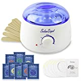 Waxing Kit(25 in 1), Wax Warmer Hair Removal Machine Home Wax Heater with 8 Hard Wax Beans(2 oz/Pack) and 10 Applicator Stickers for All Body, Face, Eyebrow, Armpit Area, Legs