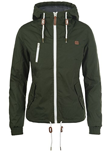 DESIRES Tilda Damen Übergangsjacke Jacke gefüttert mit Kapuze, Größe:M, Farbe:Climb Ivy (3785)
