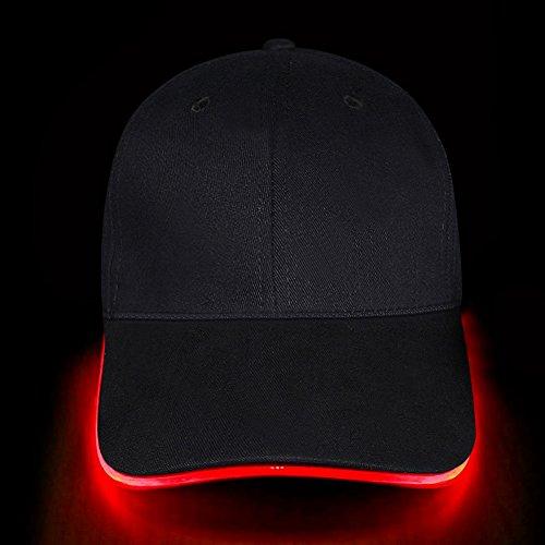 Fashion&Cool casquette lumière led (Rouge)