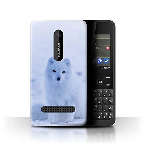 Hülle Für Nokia Asha 210 Süß Baby Tier Fotos Weißer Polarfuchs Welpe Design Transparent Ultra Dünn Klar Hart Schutz Handyhülle Case