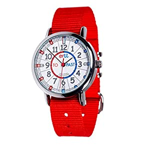 EasyRead Time Teacher Analog Learn The Time Girls Watch Red #ERW-RB-PT-R