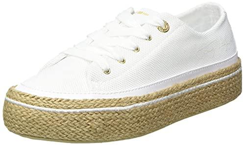Tommy Hilfiger White Sunset Vulc Sneaker, Scarpe da Ginnastica Donna, Bianco, 36.5 EU