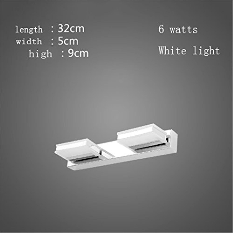 Spiegel vorne Lichter geführt Badezimmer Wandleuchte Spiegelleuchten Make-up-Lichter Einfache moderne wasserdichte Anti-Nebel-Beleuchtung gedreht werden kann ( farbe   Weies Licht , gre   32cm )