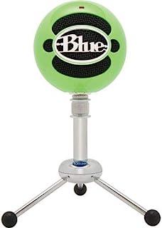 ميكروفون بمكثف يو اس بي بتصميم كرة ثلج من بلو - اخضر نيون