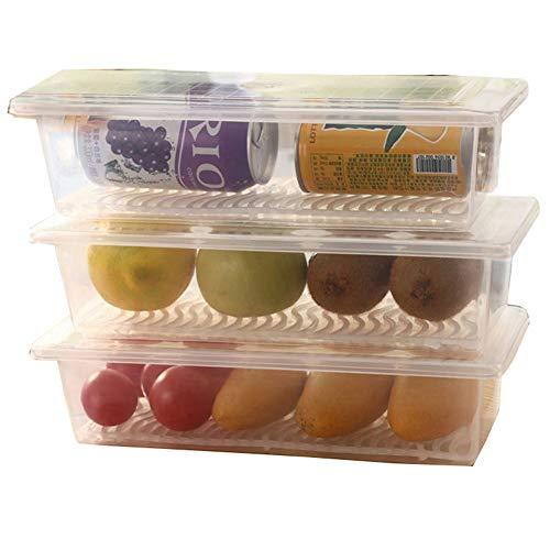 Réfrigérateur Cuisine Boîte De Rangement Drain Multi-Fonction Boîte De Rangement Fruits De Mer Congelés Légumes Frais Et Fruits Boîte Transparente Humidité