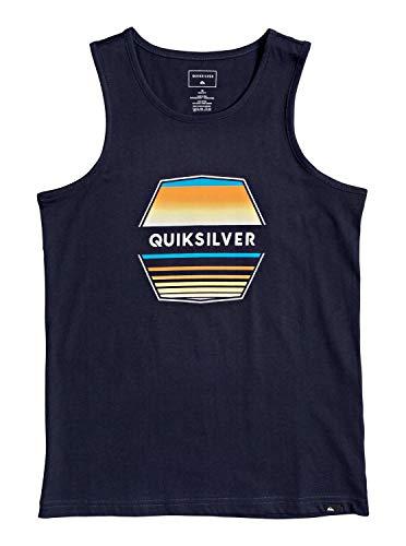Quiksilver Jungen Screen Tee Drift Away - Tank-top für Jungen 8-16, Navy Blazer, S/10, EQBZT04154