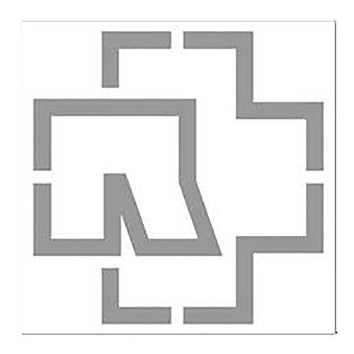 Rammstein Aufkleber Sticker Silber Logo (freistehend) 100x100mm, Offizielles Band Merchandise