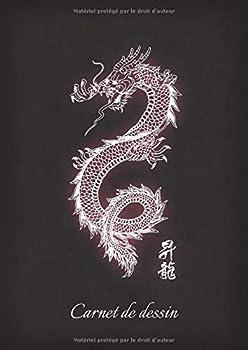 Paperback Carnet de Dessin : Carnet de Dessin Tatouage Dragon 100 Pages A4 ? Dessiner Pour Artiste [French] Book