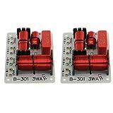 2X 150W Altavoz Graves Divisor de Frecuencia de Audio 3 Vías Filtros de Crossover