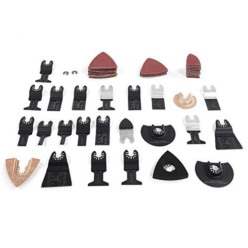 100 hojas de sierra oscilantes universales, kit de hojas de sierra multiherramienta, herramienta de corte para madera, plástico, PVC, compatible con Bosch Multi-X