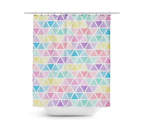 Queen of Cases Pastel Triangles - Duschvorhang in 4 Größen