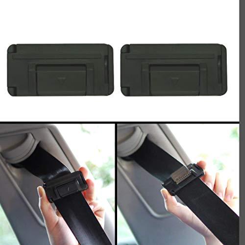Auto Sicherheitsgurt Einsteller, zum Hals-Schutz und Gurt-Spannung einstellen, 2er Pack Gurt Clip, bis 53 mm Gurtbreite, Gurt nach Wunsch verstellen, Adapter für PKW, Gurt Versteller im Halsbereich