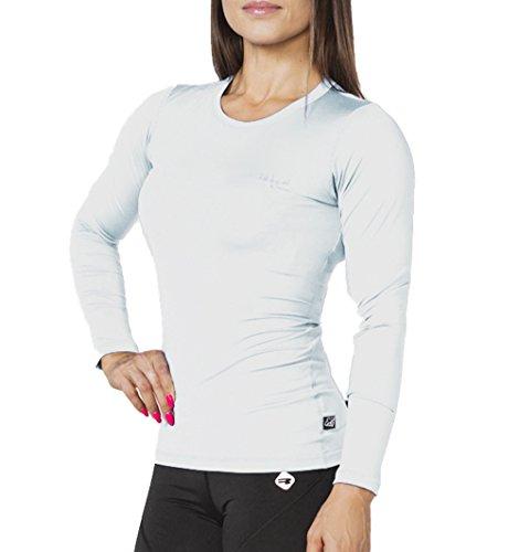 ROUGH RADICAL Damen Langarm Fitness Funktionsshirt Laufshirt EFFICIENT (S, Weiss)