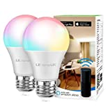 Alexa Smart Light Bulb, RGB Color Changing LED Bulbs, Works with Alexa and Google Home, Dimmable A19 E26 Bulb...