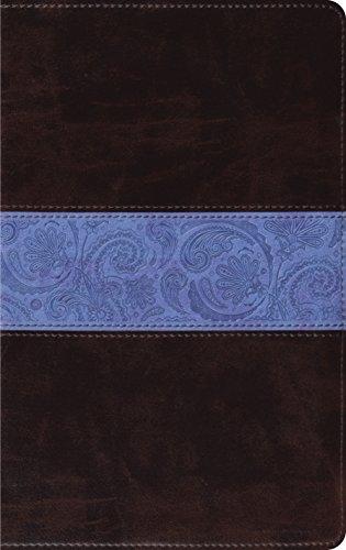 ESV Thinline Bible (TruTone, Chocolate/Blue, Paisley Band)